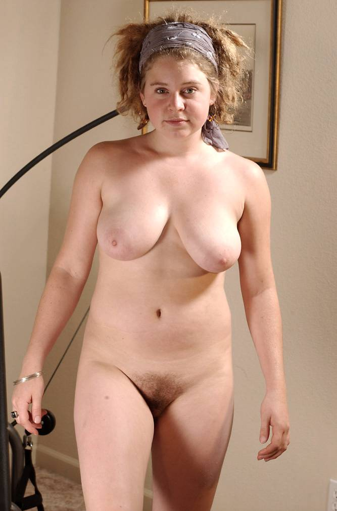 Fat hairy older woman