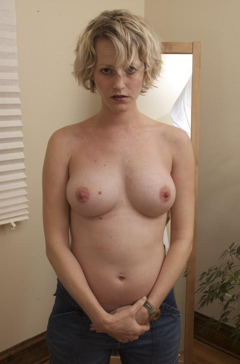 short haired blonde milf